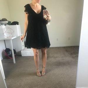 BB Dakota Jacqueline black lace shift dress XS